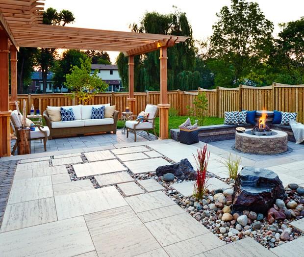 Simple patio design creates luxury