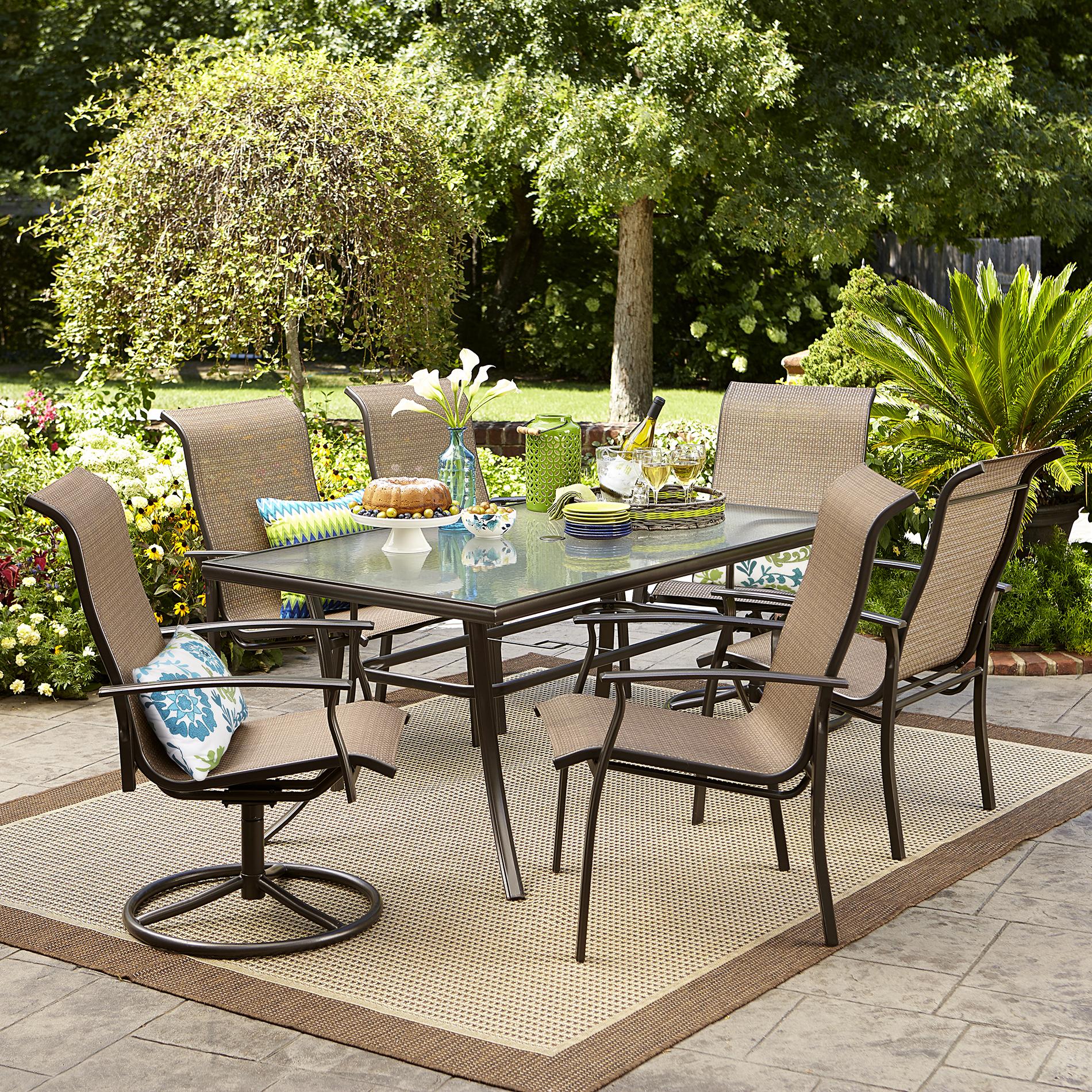 patio dining set garden oasis harrison 7 piece dining set - sears XJNKNDF