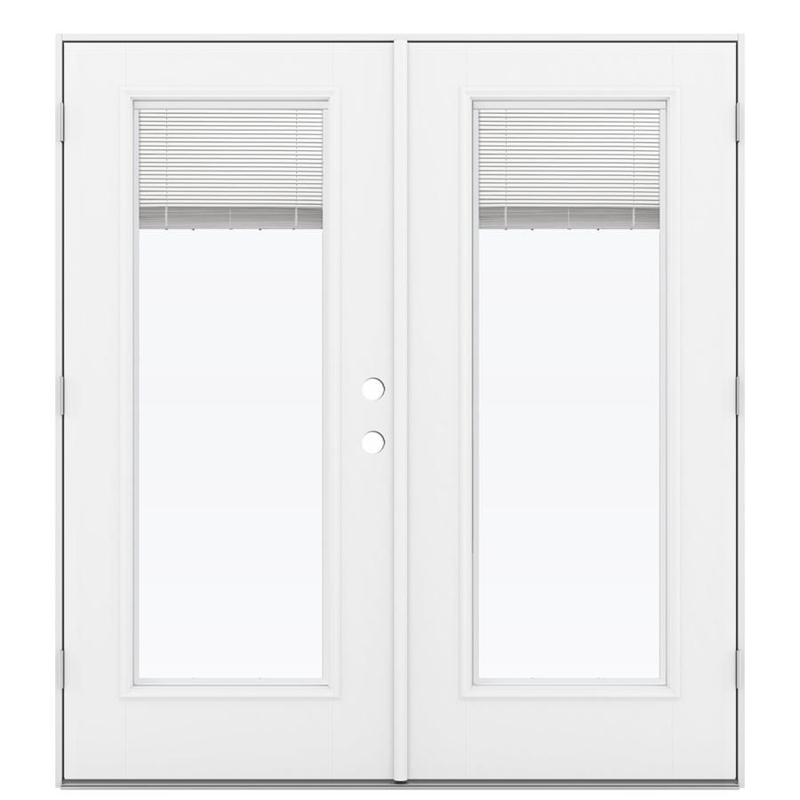 patio doors reliabilt 71.5-in blinds between the glass fiberglass french outswing patio  door SLFGSKT
