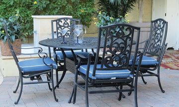 patio furniture clearance fontana 5-pc outdoor dining set CYDJGYE