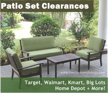 patio furniture clearance sales are happening all over town - get 50% - CJDWRIT