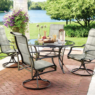 patio table and chairs outdoor dining furniture ZIUNDIE