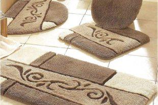 patterned bathroom rug sets XLOHJQC