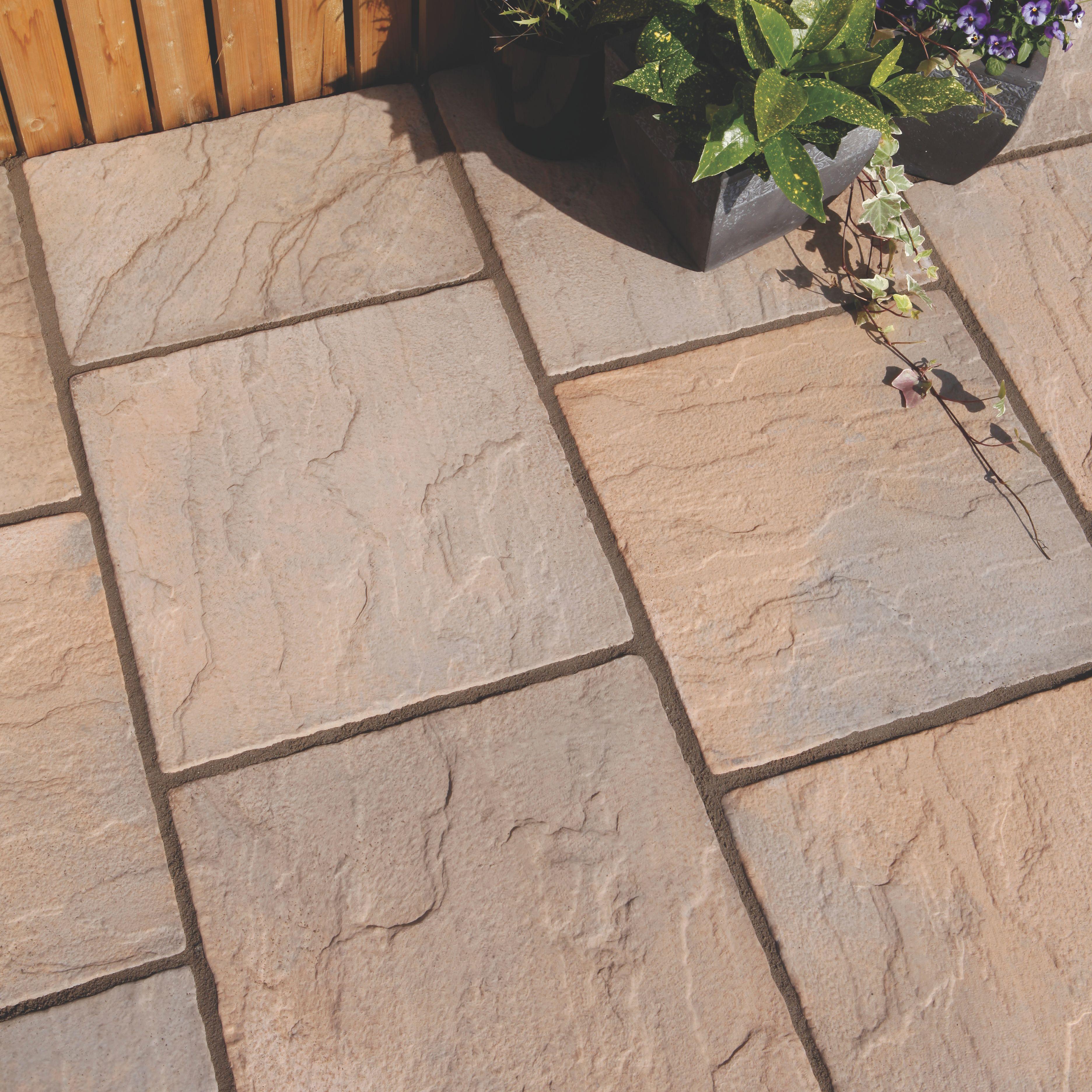 paving slabs brown blend derbyshire single paving slab (l)450mm (w)450mm IRKNEKX