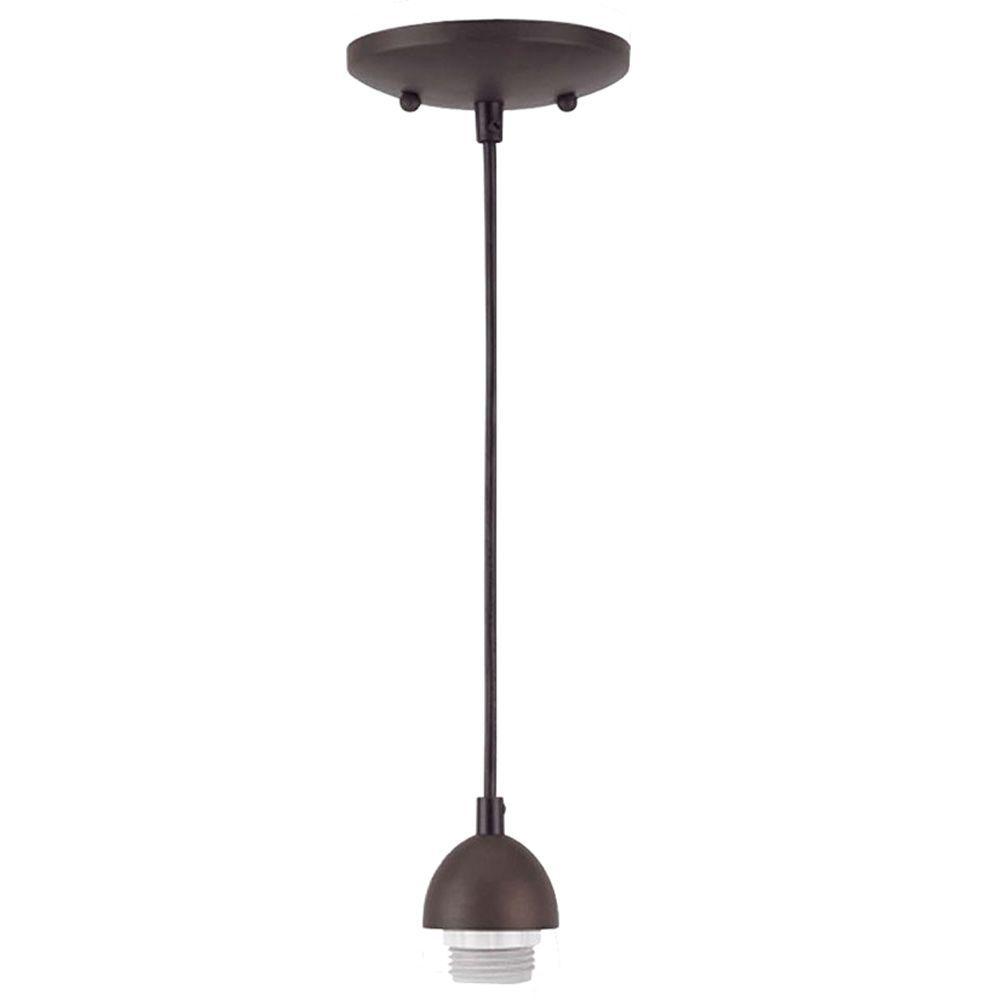 pendant light 1-light antique brass adjustable mini pendant-7028700 - the home depot UTUZBVF