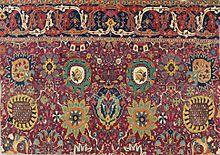 persian carpet safavid kerman u0027vaseu0027 carpet fragment, southeast persia, early 17th century MHEQLUT