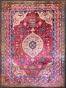 persian carpet the rothschild small silk medallion carpet, mid-16th century, museum of  islamic art, BOBILVZ