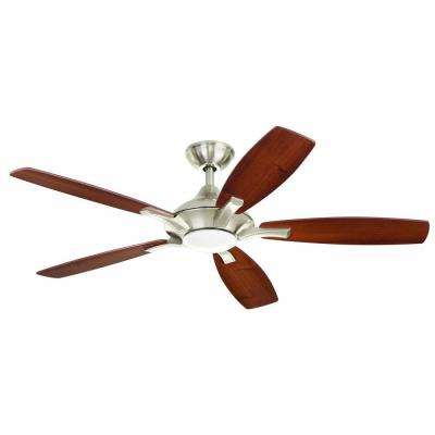 petersford 52 in. led brushed nickel ceiling fan ZZQPBLF