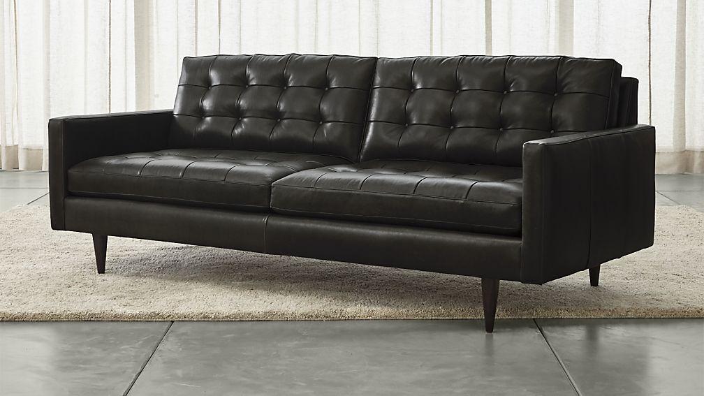 petrie leather sofa ... UKOAYMG