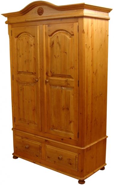 pine wardrobe chatsworth pine 2 drawer double wardrobe XXSOLOK