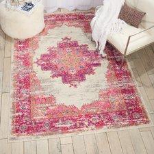 pink rugs bethesda ivory/fuchsia indoor area rug XVGHJVS