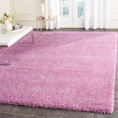 pink rugs santa monica shag pink 5 ft. 3 in. x 7 ft. 6 in IQORDJK