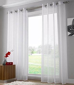 plain voile curtain panel, ring top heading, eyelet voile curtains, ready  made HZAGZFV