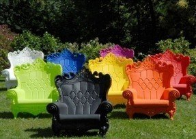 plastic patio chairs plastic chairs, believe it or not! so cute for a EMMCVKI