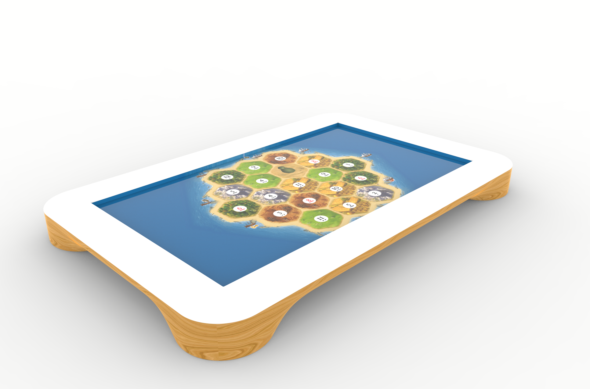 play table playtable tech specs. ash wood render EUERJEM