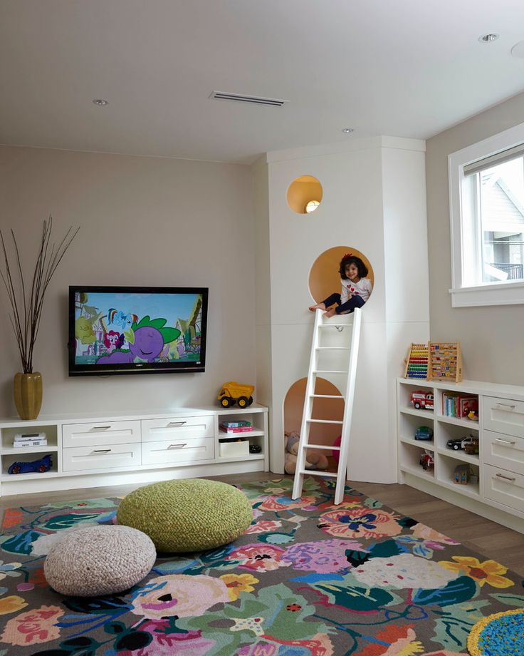 playroom rugs kids playroom, large floral area rug, knit poufs, custom kids play house GOSUUAK