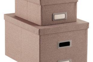 poppin heather brown storage boxes ... HHHKHYG