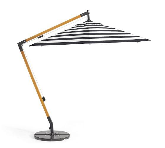 premium sunbrella® wooden cantilever umbrella - stripe TPMKUYC