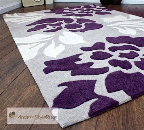 purple rugs grey purple and cream modern new luxury rug PUJOEKQ
