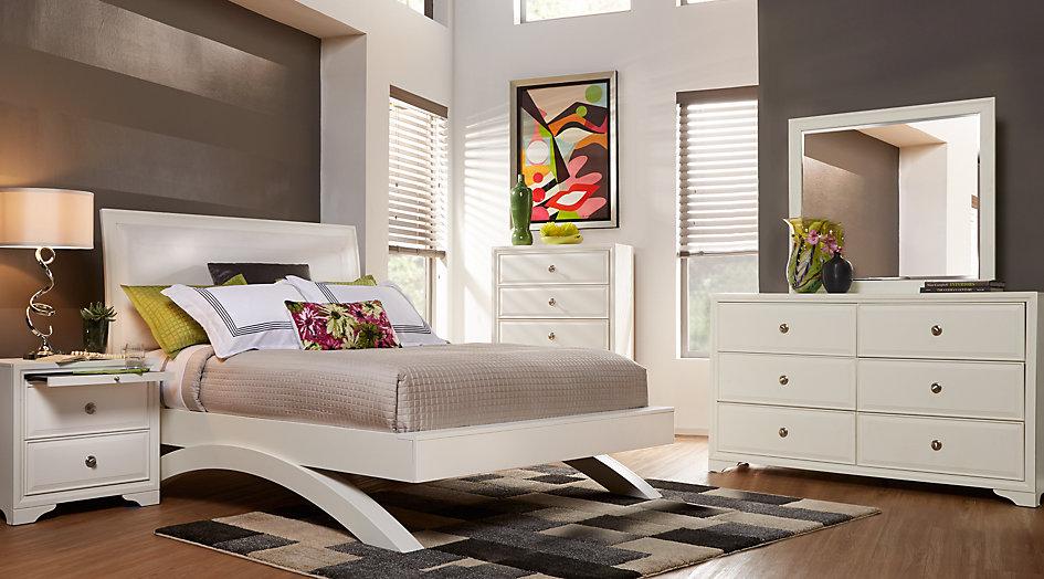 queen bedroom sets belcourt white 5 pc queen platform bedroom from furniture PVJRRES