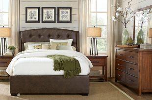 queen bedroom sets urban plains brown 5 pc queen upholstered bedroom ETJPMQQ