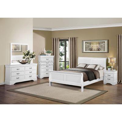 queen bedroom sets white 6-piece queen bedroom set - mayville GDWUNAK