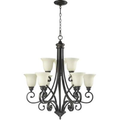 quorum lighting - 6154-9-86 - bryant - nine light chandelier AUJDFWB
