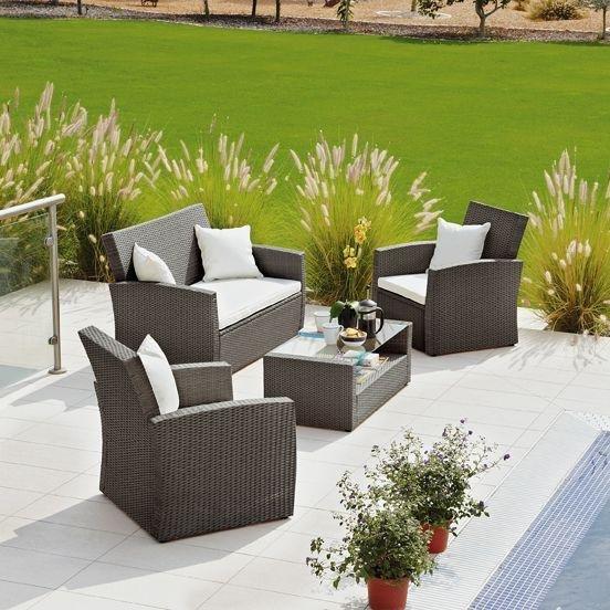 rattan effect garden furniture buy collection bali rattan effect brown 4 seater patio set at argos.co.uk - JYTNQVX