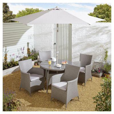 rattan effect garden furniture tesco san marino 6 piece rattan round garden dining set, grey CLJTXML