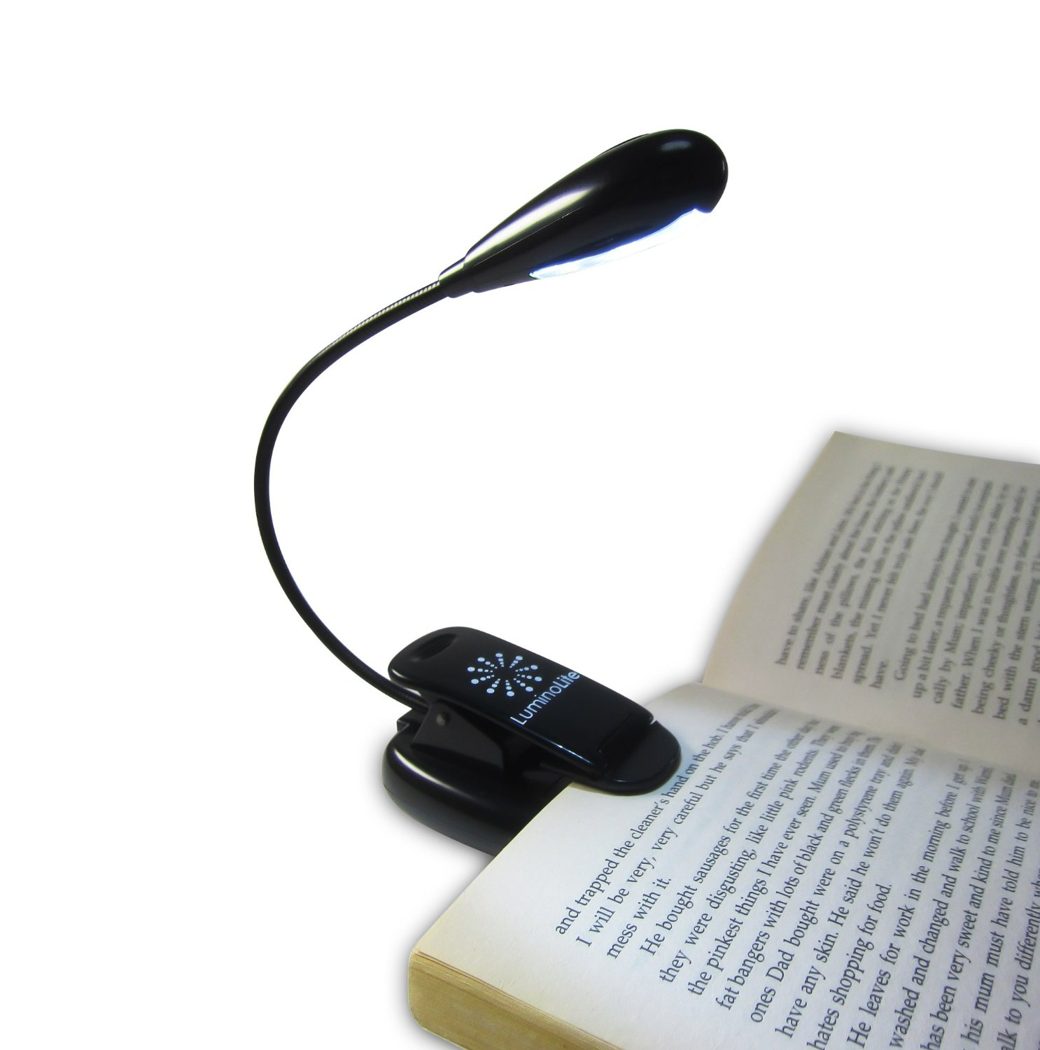 reading light luminolite rechargeable extra-bright 4 led book light, easy clip on reading  light, EGKAPSL