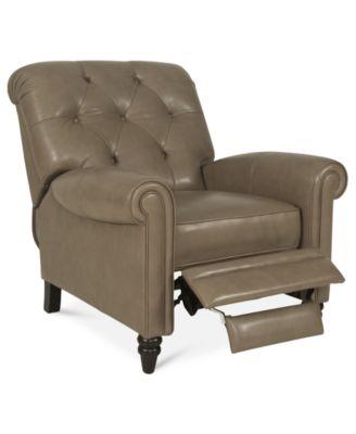 recliner chairs martha stewart collection leather recliner chair, bradyn 36 BJEIZTT