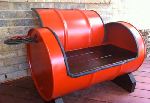 recycled furniture idea with red keg CBLPGVM