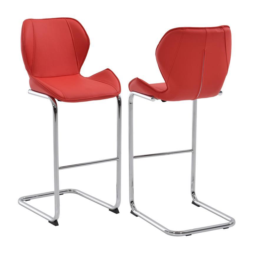 red bar stools latika red bar stool main image, 1 of 6 images. AWFJLXT