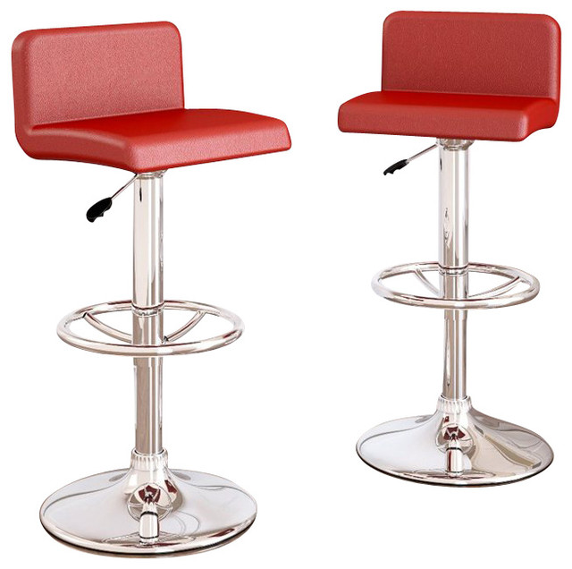 red bar stools sonax corliving low back bar stools red leatherette set of 2 within red ILMZPMA