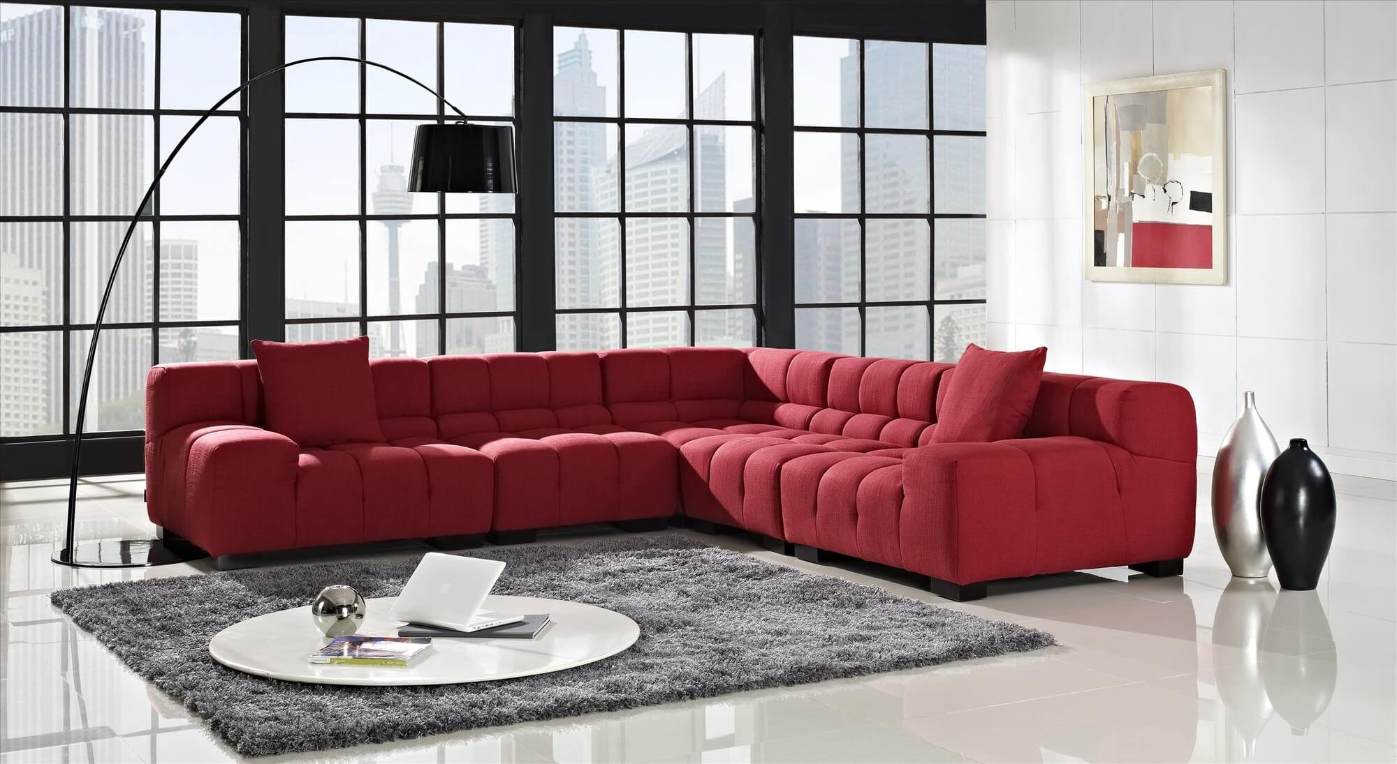 red sectional sofa 18 stylish modern red sectional sofas TJCZCXG