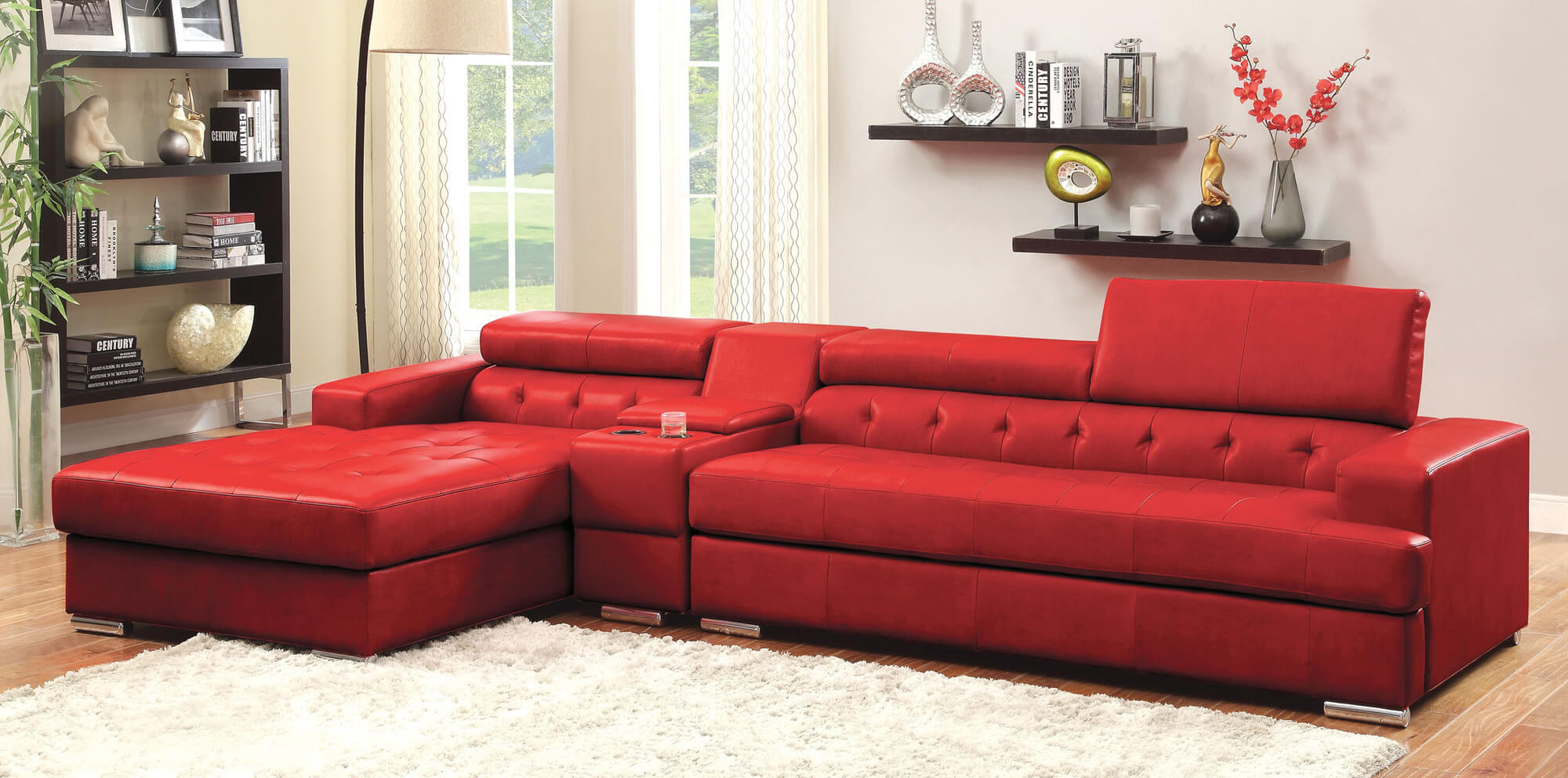 red sectional sofa 18 stylish modern red sectional sofas WZSVRJG