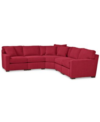 red sectional sofa radley 5-piece fabric sectional sofa: custom colors BMTWATZ