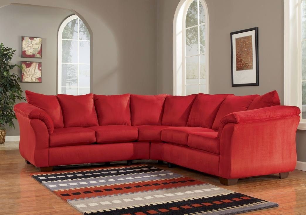 red sectional sofa red upholstery fabric sectional WSGQFFV