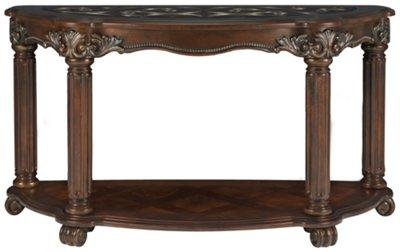 regal dark tone glass sofa table VEERBPR