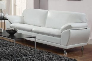 robyn white leather sofa FUFDXCQ