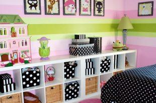 room decoration ideas girlsu0027 bedroom with modular storage bookcase QJBVUFH