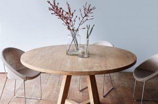 round dining tables cross leg round dining table whitewashed teak 160 IIEUSZA