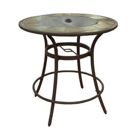 round patio table allen + roth safford 40-in w x 40-in l 4-seat CDPOSPX