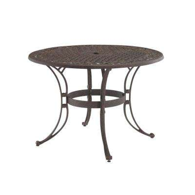 round patio table biscayne 48 in. bronze round patio dining table NMRUNDX