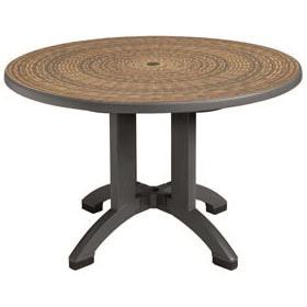 round patio table grosfillex us715037 - havana table and base- 48 QLNDIKK