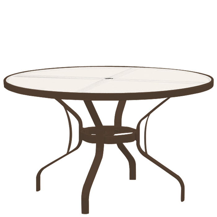 round patio table tropitone 48 round glass dining table universal patio PDYWOSA