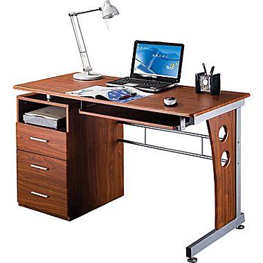 rta products techni mobili computer desk with storage, mahogany  (rta-3520-m615 VKBZGJF