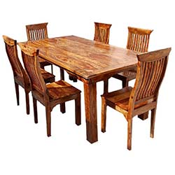 rustic dining table rustic solid wood dining table u0026 chair set furniture GAHXBKH