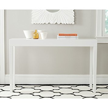 safavieh home collection kayson white console table YGOTPMY