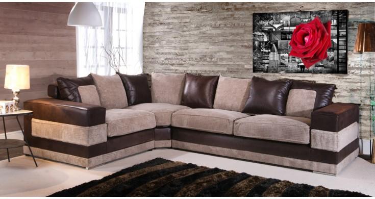 sanchez chocolate u0026 coffee fabric corner sofa suite GSPFYFP